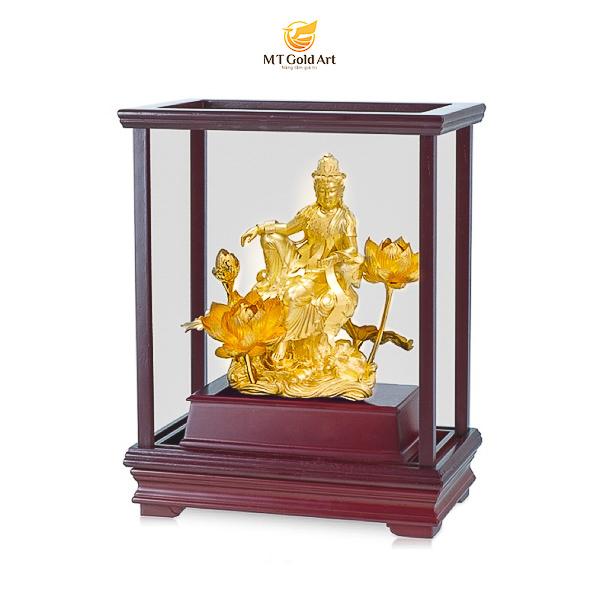 tượng quan âm dát vàng