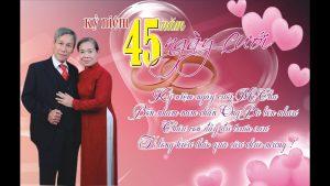kỷ niệm 45 năm ngày cưới
