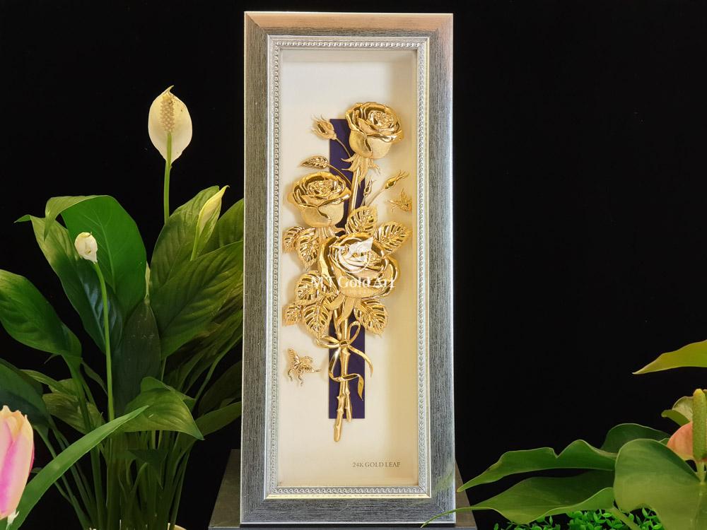 quà tặng lưu niệm tranh hoa hồng